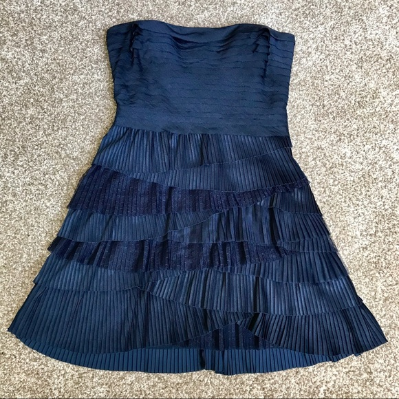 7dbcdc67c710 BCBGMaxAzria Dresses | Navy Tiered Ruffle Cocktail Dress | Poshmark